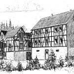 """3. Repschenrother Mühle – Die Wasserkraft der Wiehl und ihrer Nebenbäche wurde schon früh genutzt. In der Mercatorkarte von 1575 sind im Wiehl- und Bechtal verschiedene Hämmer und Mühlen verzeichnet, auch die Repschenrother Mühle. Das in unmittelbarer Nähe befindliche Gehöft Repschenroth gilt als """"Keimzelle"""" Bielsteins."""