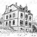 6. Bürgermeisteramt – Der Amtssitz der neuen Gemeinde Bielstein wurde im Jahre 1901 fertig gestellt. Erster Hausherr war Heinrich Brindöpke, der seit 1898 Bürgermeister der Altgemeinde Drabenderhöhe war. Mit dem Zusammenschluss der Gemeinden Wiehl und Bielstein verwaiste das Gebäude.