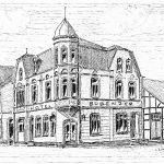 7. Hotel Bubenzer – Der historisierende Baustil des Hotels Bubenzer mit seiner sehenswerten Fassade war in den 1890er Jahren der neue Blickfang des Ortes. Ganz im Gegensatz dazu wurde im Jahre 1904 in schlichter Fachwerkkonstruktion ein Gesellschaftssaal angebaut, der später auch als Kino genutzt wurde.