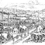 """11. Edelstahlwerk Kind & Co. – Der Standort eines der """"Reckhämmer"""" im unteren Wiehltal war Ursprung des 1888 gegründeten Edelstahlwerkes Kind & Co. Aus kleinsten Anfängen wuchs ein weltweit agierendes Unternehmen heran, heute der größte Arbeitgeber Bielsteins."""