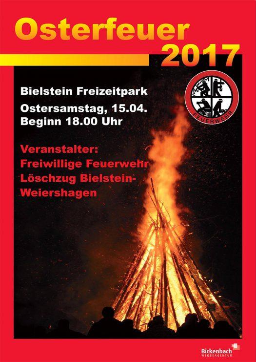 Plakat Osterfeuer 2017