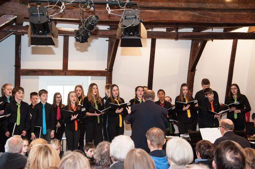 Chormusik vom Musical Aladdin bis hin zum barocken Stück Laudamus te präsentierten die Chöre der Bergischen Akademie für Vokalmusik. Fotos: Vera Marzinski