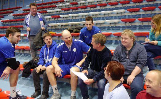 Die Spieler stellten sich den Fragen des Zeitungsteams. Fotos: HBW GmbH